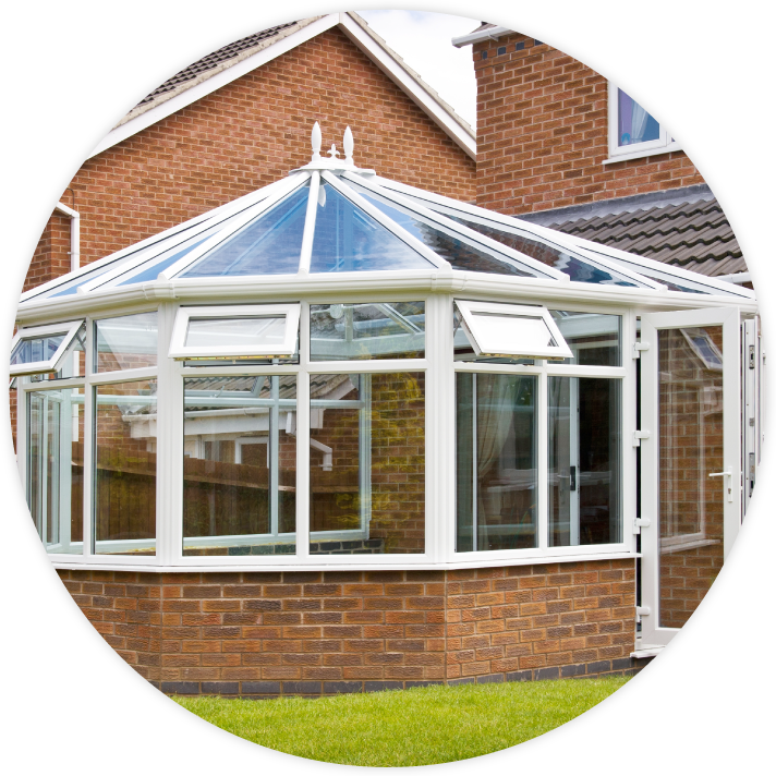 White UPVC conservatory looking brand new after we completed our repair service